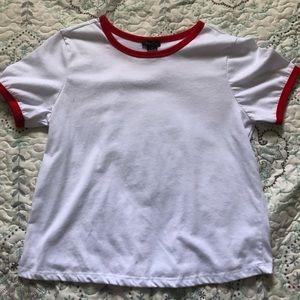Retro 80s ringer t shirt